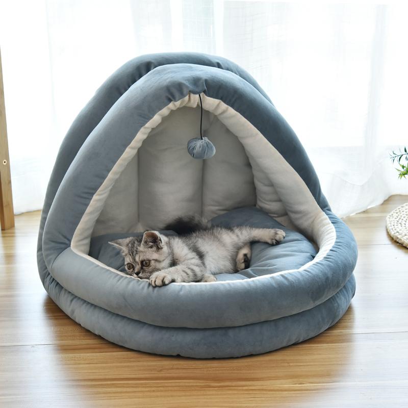 猫窝冬季保暖猫咪封闭式猫床猫屋别墅小狗窝网红宠物用品四季通用