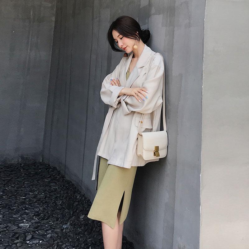 初秋温柔风港味复古冷系女装轻熟风御姐范法式少女茶歇裙两件套装
