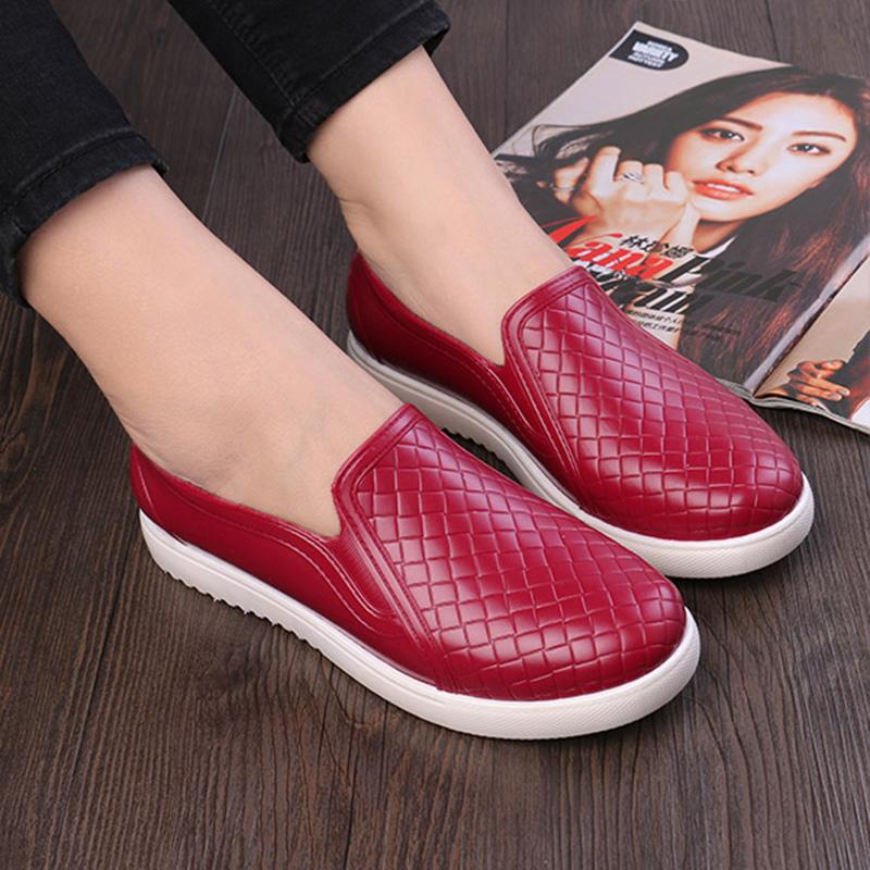 韩国雨鞋女可爱时尚平底防滑低帮水鞋雨靴厨房短筒胶鞋套脚水靴