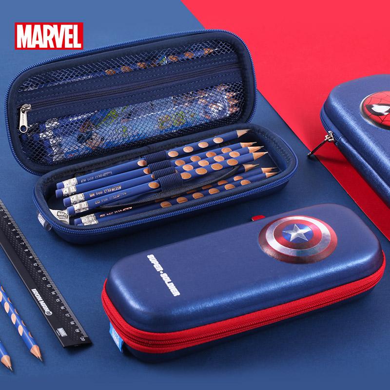 迪士尼笔袋男小学生学习用具多功能铅笔盒文具袋简约大容量文具盒
