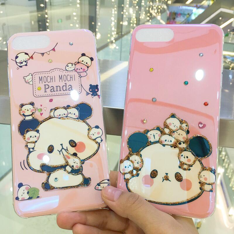 熊猫华为蓝光手机壳mate10promate10p20p20pro镭射保护套图片