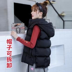 羽绒棉马甲女士2020秋冬季新款外搭韩版背心外穿百搭马夹坎肩外套图片