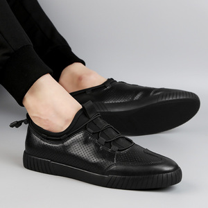 Summer 48 extra large hollow men's shoes 47 casual men's leather 45 large 46 pure black hole plate shoes