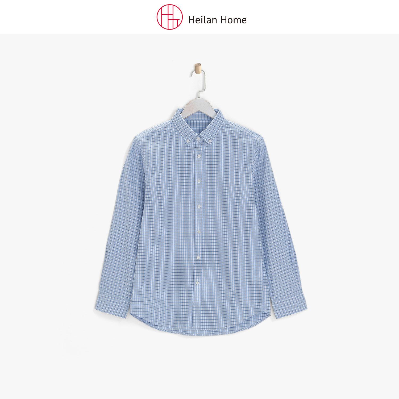 蓝色长袖衬衫男 Heilan Home/海澜优选生活馆