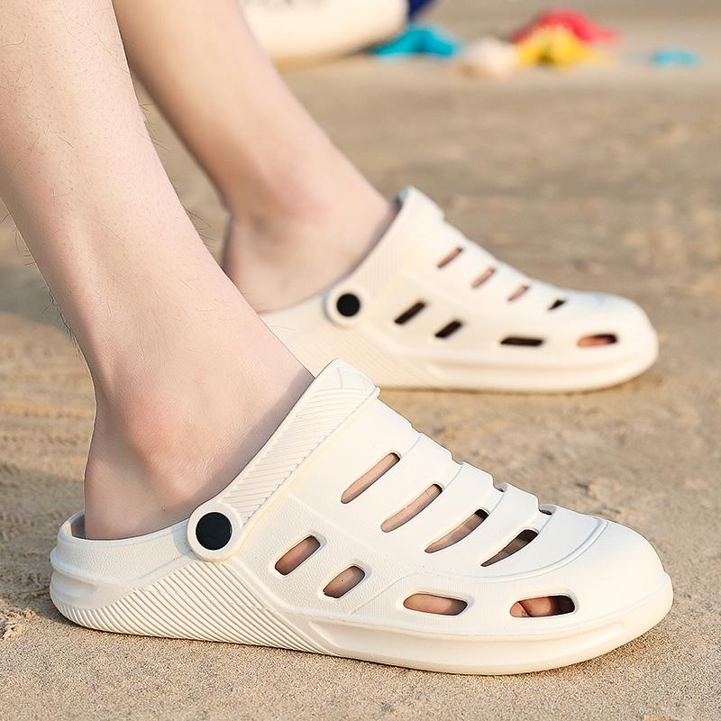 男士洞洞鞋沙滩鞋潮流大头鞋夏拖鞋韩版个性防滑凉拖室外包头凉鞋