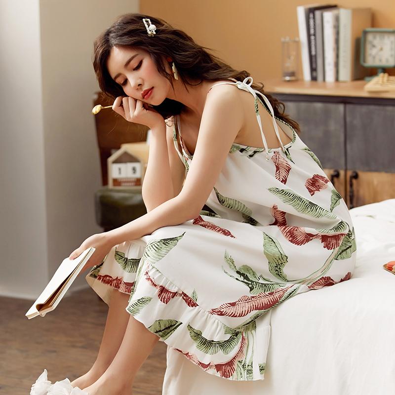 胖妹妹特大码5XL睡衣夏季女吊带睡裙加肥宽松4XL无袖连衣裙200斤