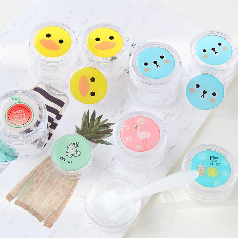 便捷美妆工具可爱卡通图案分装瓶旅游出游搭档化妆品盒分装罐瓶子
