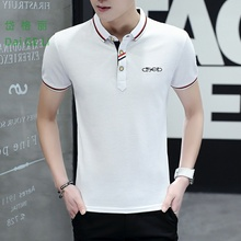 Men' s Stand Collar Cotton T Shirt Camisa Polo Shirts Male