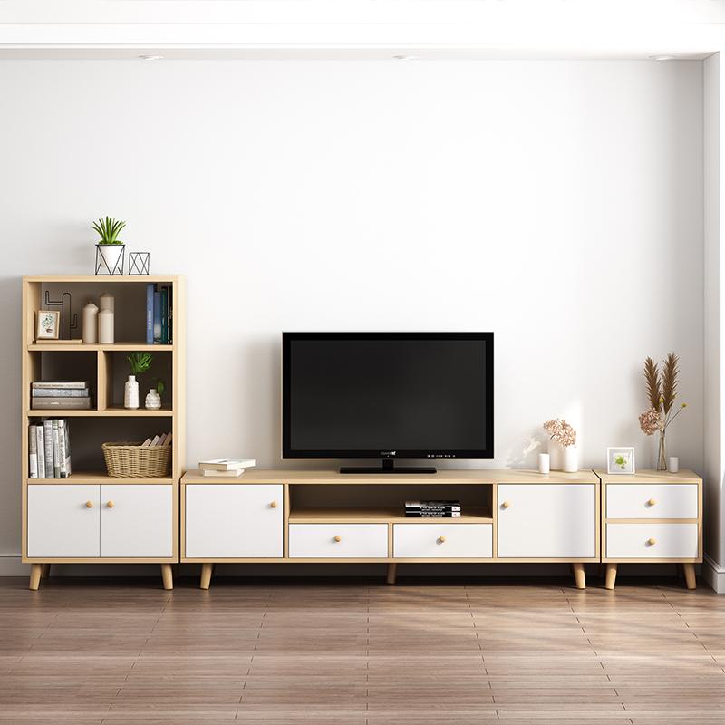 北欧电视柜简约现代茶几电视柜组合套装客厅卧室小户型实木电视柜