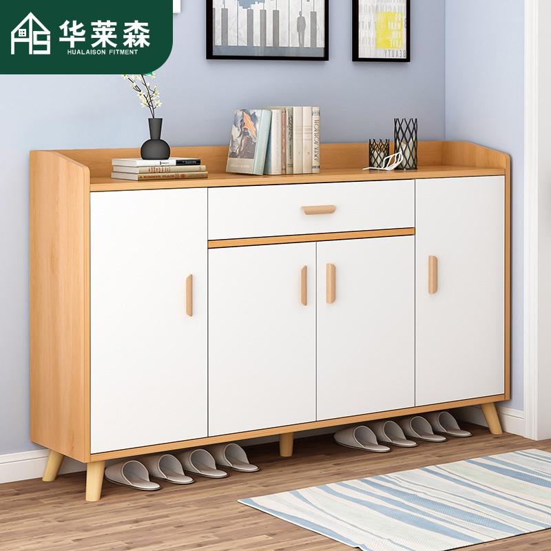 鞋柜玄关柜简约现代门厅柜北欧仿实木经济型简易家用进门口小鞋柜