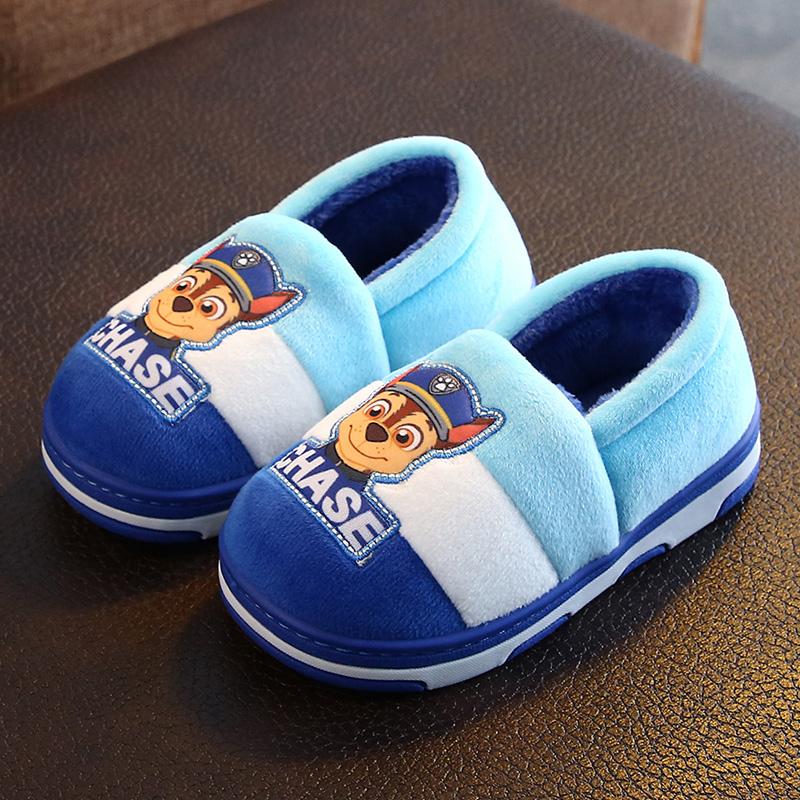 汪汪队宝宝室内鞋冬儿童拖鞋包跟2-3岁男童家用棉拖鞋家居鞋棉鞋5