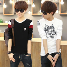 Young men's long sleeve T-shirt spring 12 junior high school students' clothes 13-15 years old 14 boys' Autumn 16 clothes