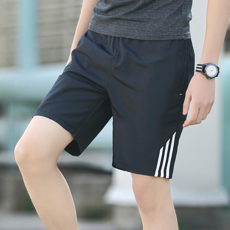 休闲短裤男夏天宽松马裤子45分运动沙滩裤潮男士五分裤夏季大裤衩