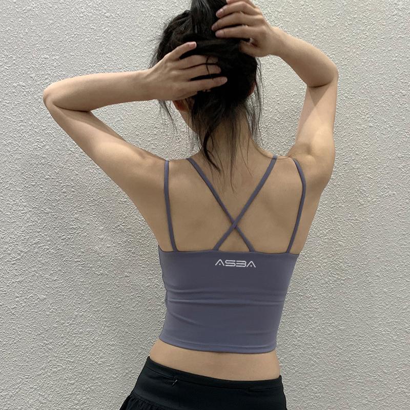 运动内衣女防震跑步聚拢文胸吊带背心带胸垫健身bra美背瑜伽文胸