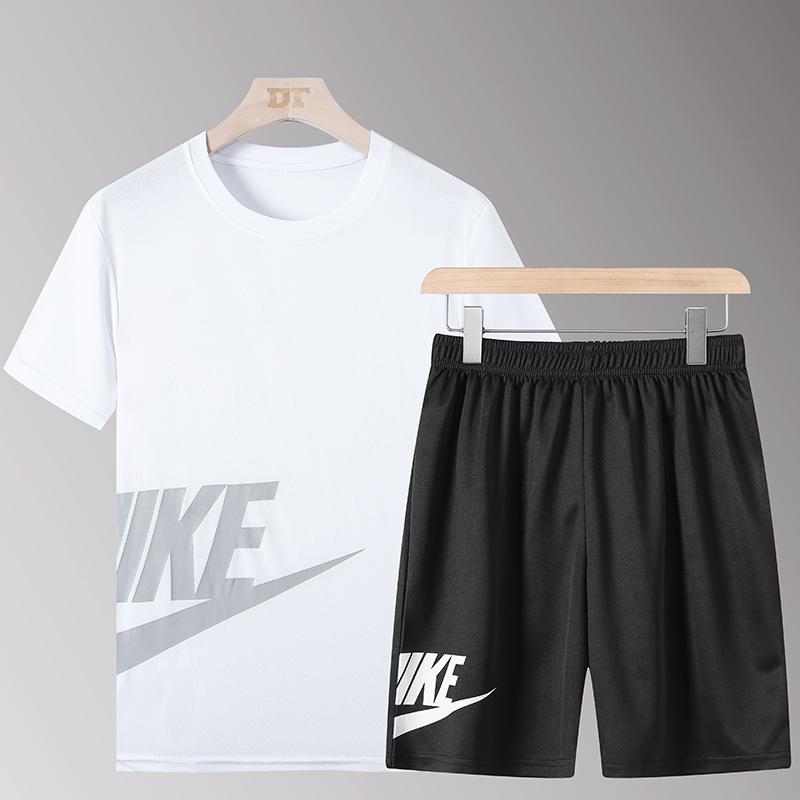 运动套装男女跑步健身篮球透气夏季薄款速干衣服宽松大码短袖套装