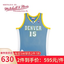 Mitchell & Ness Anthony 2003 Nuggets Mn men's and women's loose retro Jersey SW basketball suit BF trend