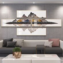 Light luxury living room decoration painting combination creative atmosphere sofa background wall hanging painting Zhaocai Fengshui mural back mountain