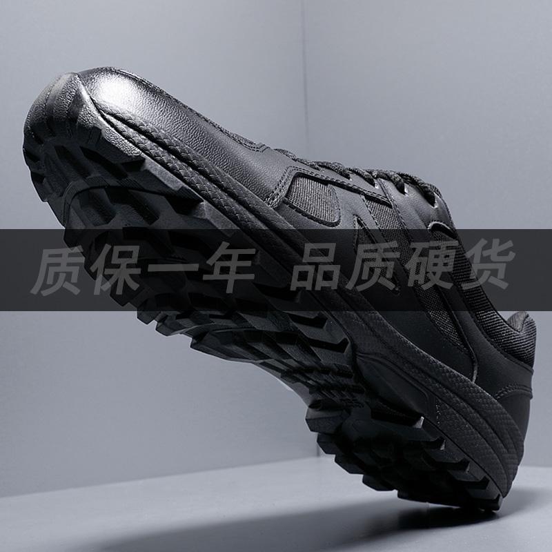新式作训鞋男黑色军鞋正品07a式超轻跑步训练鞋冬季耐磨消防胶鞋