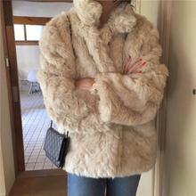 THESUM2f3Y 韩款kk草毛毛 经典气质慵懒系保暖毛毛外套女2021