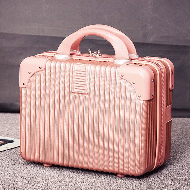 复古迷你手提箱14寸化妆箱结婚陪嫁旅行小箱子化妆包登机行李箱女