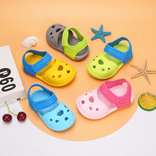女童凉yi01-3岁in童洞洞鞋可爱软底沙滩鞋塑料卡通防滑拖鞋男