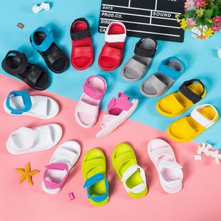 儿童凉鞋女童沙滩鞋2020新款时尚软底塑料防水男宝宝中大童洞洞鞋图片