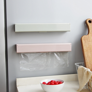 Household cling film cutter magnetic wall-mounted kitchen utensil artifact cling paper tin foil divider cutting box