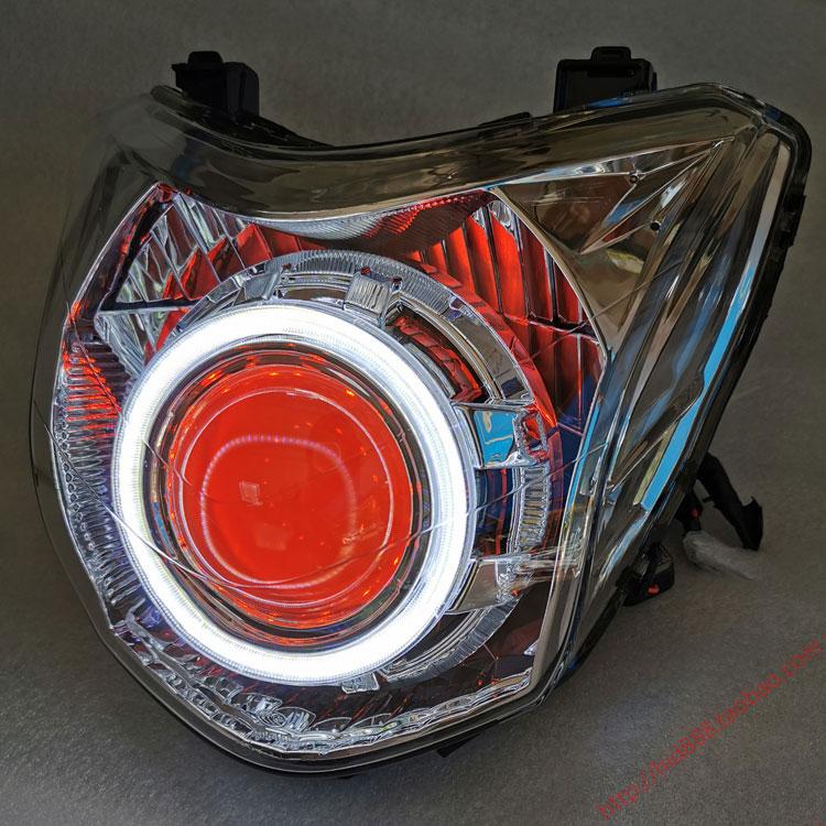 适用于本田幻影150大灯总成 双光Q5透镜双天使眼氙气灯 战神 LED