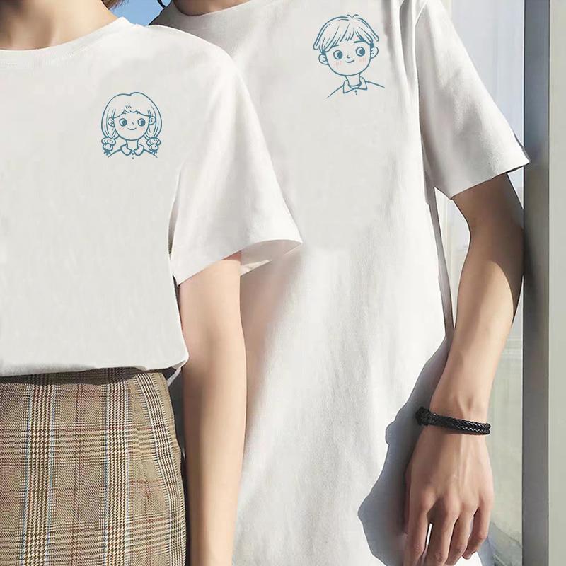 情侣装夏装夏季小众设计感2020新款潮流ins潮夏港风情侣短袖t恤F