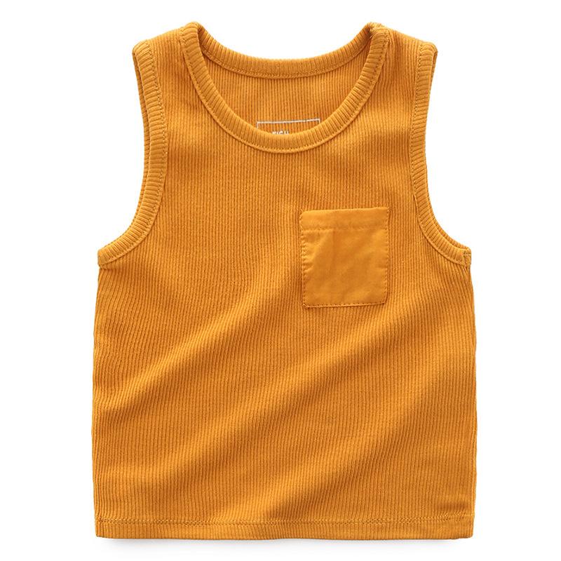 儿童背心纯棉  夏装女童男童背心无袖体T恤汗衫 宝宝全棉背心1066