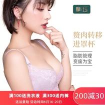摩珏品牌聚拢小胸收副乳功能调整型美胸无海绵薄款蕾丝女文胸内衣