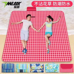 Outdoor moisture-proof mat picnic mat thickened tent inner mat supplies floor mat net red grass portable ultralight child pad