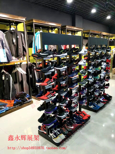 Sneakers shoes Nakajima rack display rack shelf shoe cabinet double-sided shoes in the mall high-end shoe store store shoe rack