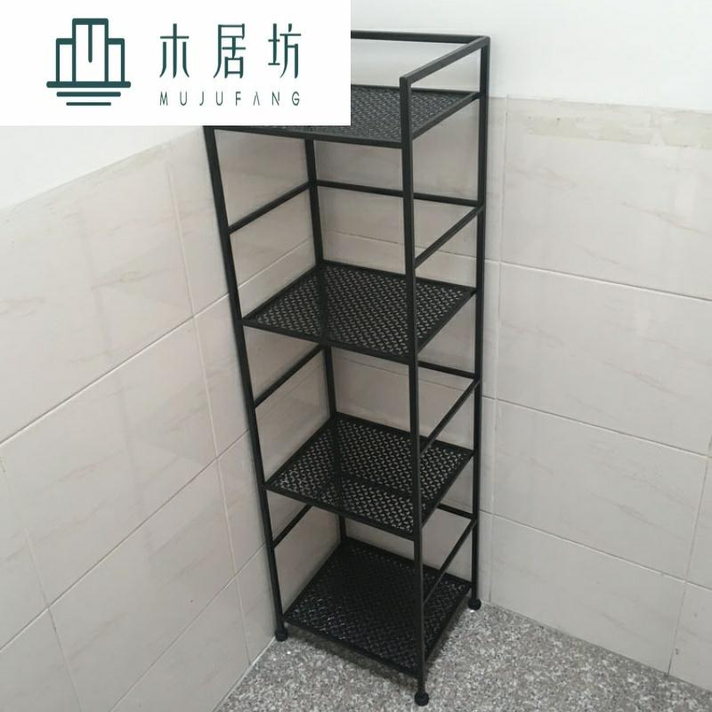 X欧式卫生间置物架落地浴室置物架层架毛巾架铁艺四层置物架收纳