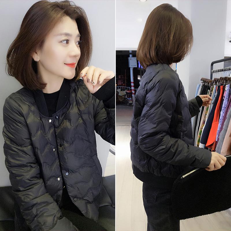 黑色轻薄鸭绒羽绒服短款小个子外套欧洲站冬季女装2020新款欧货潮