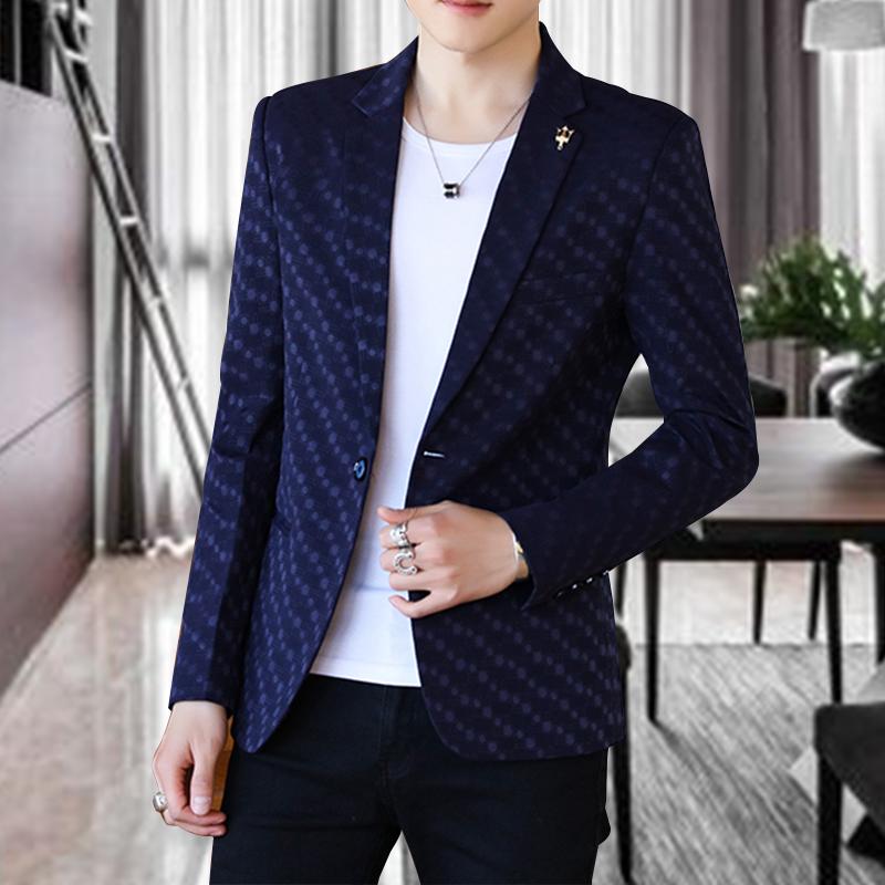 春秋季休闲西服男士修身帅气青年韩版小西装外套潮流单西上衣薄款