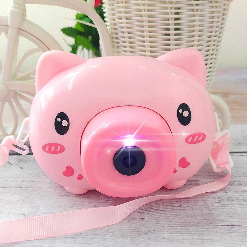 【薇娅推荐】泡泡机照相机抖音同款网红电动自动吹泡泡枪1-2-3岁6益智儿童玩具