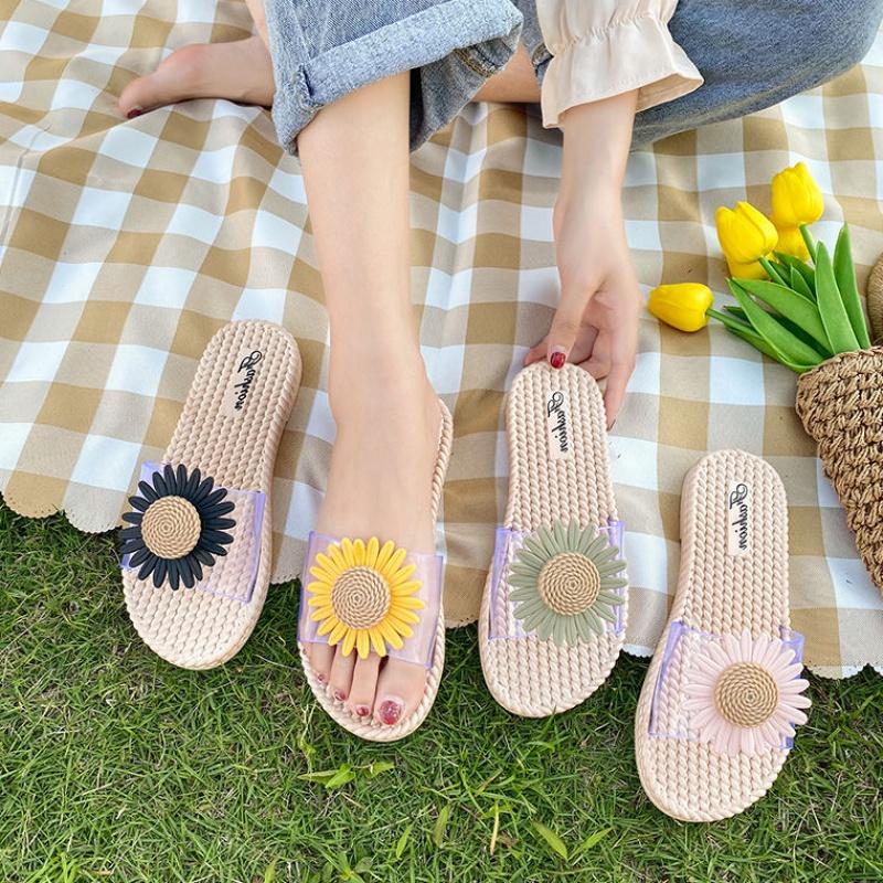 小雏菊拖鞋女夏网红ins外穿2020新款凉鞋女学生韩版拖鞋家用防滑