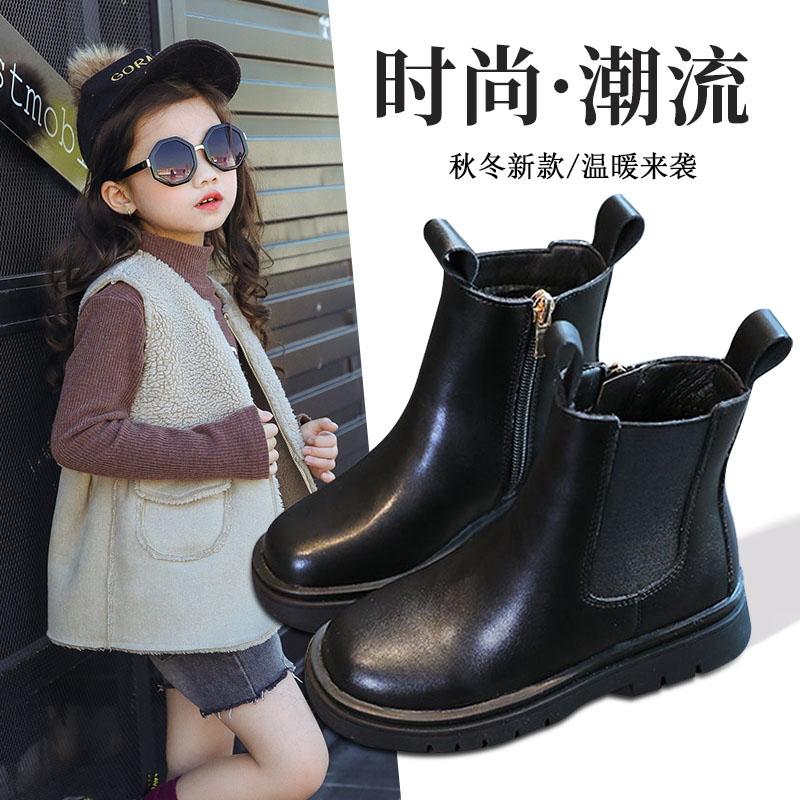 女童马丁靴短靴韩版二棉加绒单靴秋冬新款英伦风公主儿童棉鞋靴子