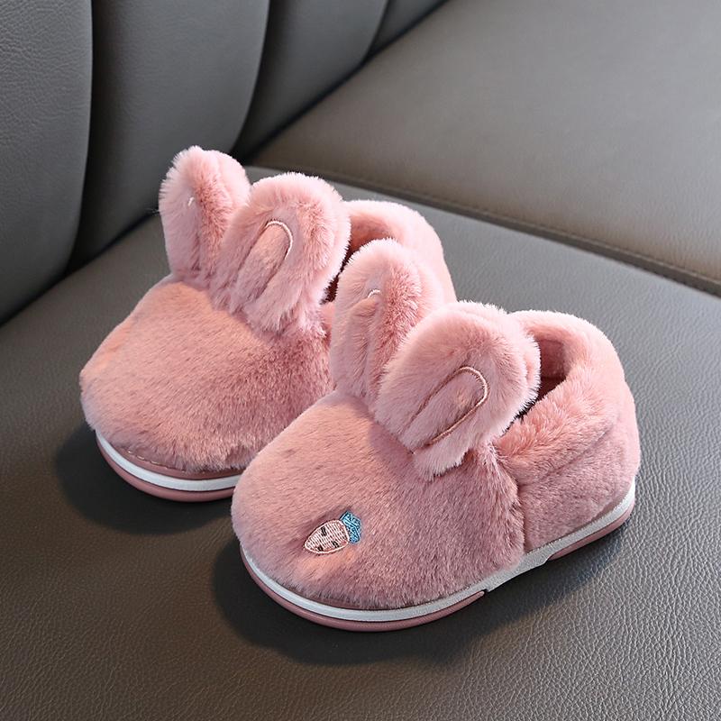 冬儿童棉拖鞋男女童宝宝保暖包跟棉鞋小孩室内防滑居家卡通拖鞋子