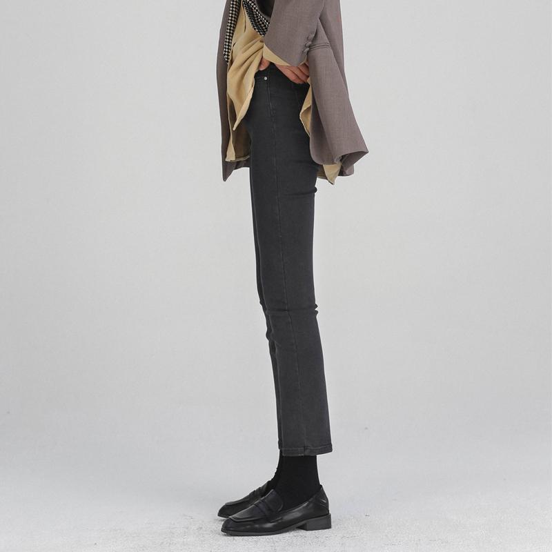 [¥116]直筒牛仔裤女高腰2020春季新款韩版弹力修身显瘦百搭学生九分裤子