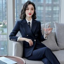 2021新式职ad4装女装套xt尚女士西装套裙工作服面试正装工装