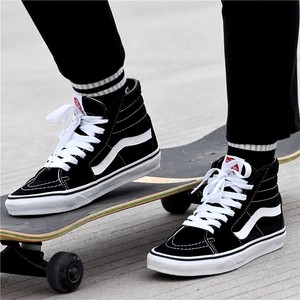 VANS sk8-hi high-top black and white classic suede men and women casual canvas shoes skate shoes VN0D5IB8C