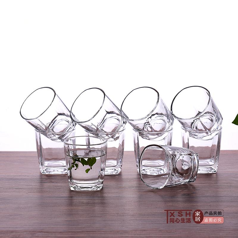 10只家用饭店酒吧加厚优质透明耐热花茶杯大众牛奶果汁杯实用套装