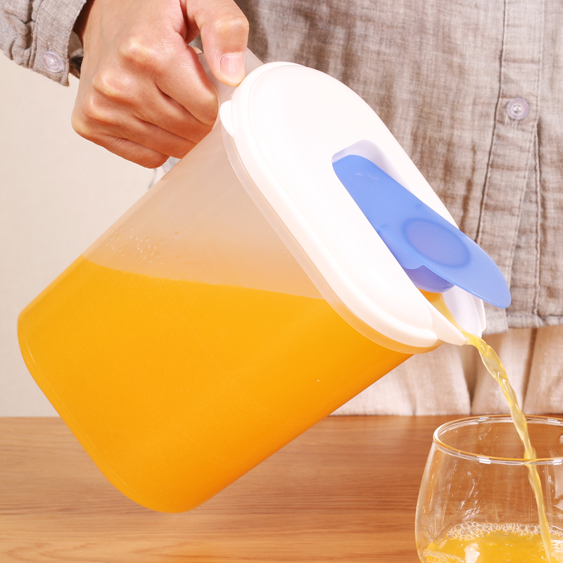 日本进口冷水壶塑料凉水壶家用冰箱冷藏大容量耐高温果汁凉水杯壶
