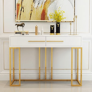 Light luxury case desk porch table bar case for high-end decoration modern minimalist golden Nordic wall rack entrance hall