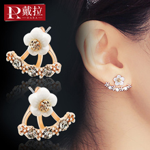 925 silver needle Earrings South Korea Earrings female temperament autumn and winter net red winter 2019 new fashionable ear clip