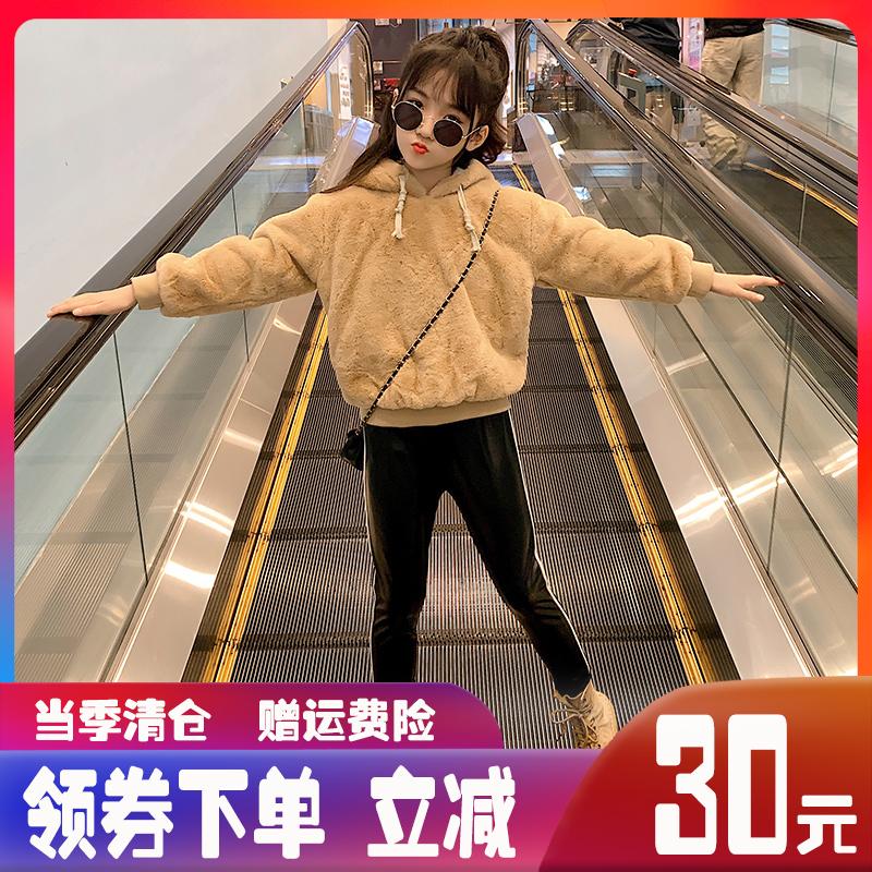 女童秋冬装套装儿童洋气网红2019新款韩版大童装女孩加绒加厚衣服