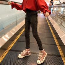 女童裤子jz1童牛仔裤912021新式洋气大童装女孩春秋式打底裤