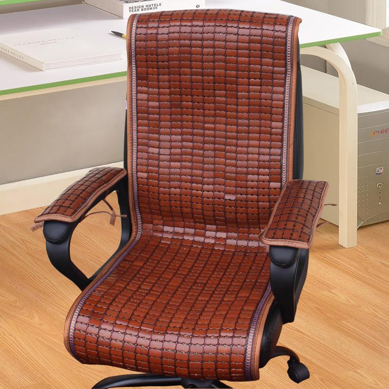 夏季办公椅凉席坐垫靠背一体麻将躺椅垫夏天电脑椅老板椅连体竹垫
